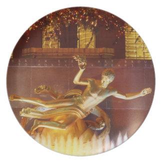 USA, New York, New York City, Statue of Dinner Plate