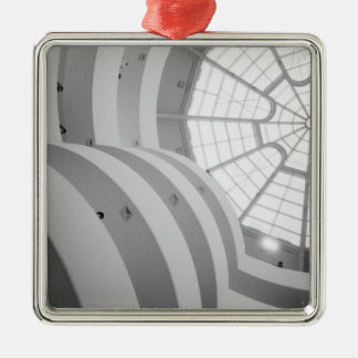 USA, New York, New York City: The Guggenheim 3 Silver-Colored Square Decoration