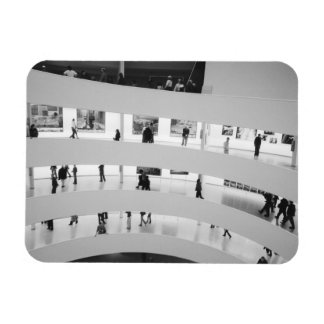 USA, New York, New York City: The Guggenheim 5 Rectangular Photo Magnet