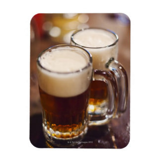 USA, New York, New York City, Two beers on bar Magnet