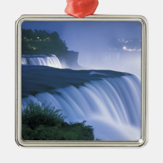 USA, New York, Niagara Falls. American Falls in Christmas Ornament