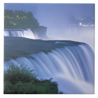 USA, New York, Niagara Falls. American Falls in Tile