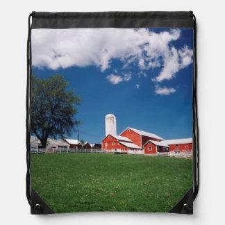 USA, New York, Sharon Springs, Farm Drawstring Bag