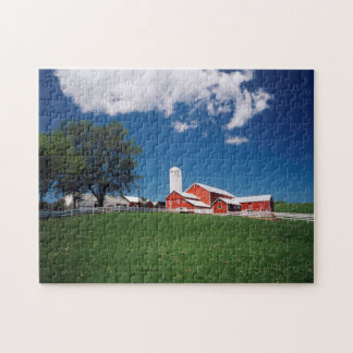 USA, New York, Sharon Springs, Farm Jigsaw Puzzle