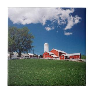 USA, New York, Sharon Springs, Farm Tile