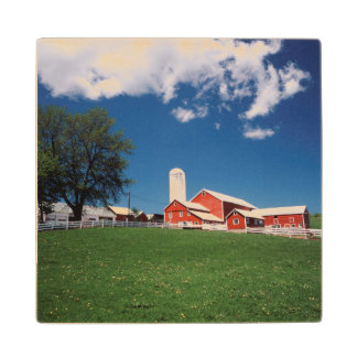 USA, New York, Sharon Springs, Farm Wood Coaster