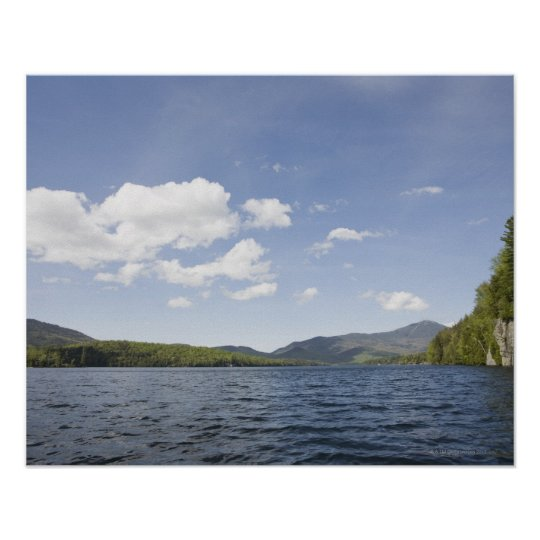USA, New York State, Adirondack Mountains, Lake 2 Poster