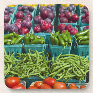 USA, New York State, New York, Vegetables and Coaster