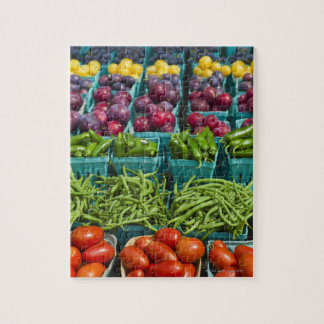 USA, New York State, New York, Vegetables and Jigsaw Puzzle
