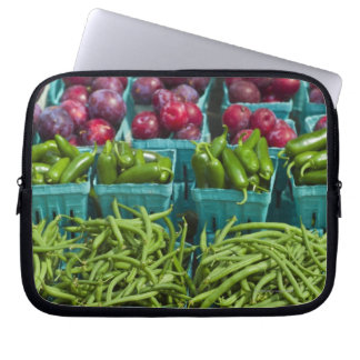 USA, New York State, New York, Vegetables and Laptop Sleeve