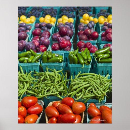 USA, New York State, New York, Vegetables and Print