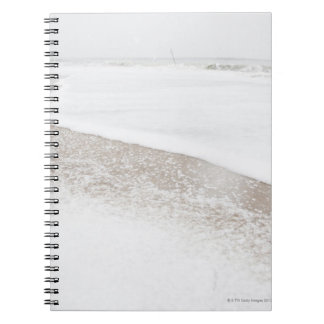 USA, New York State, Rockaway Beach, beach in Notebook