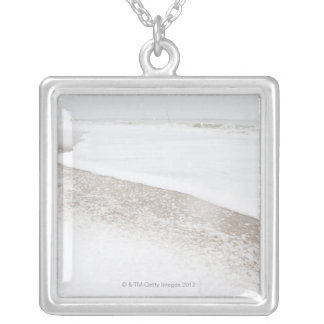 USA, New York State, Rockaway Beach, beach in Silver Plated Necklace