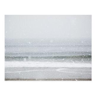 USA, New York State, Rockaway Beach, snow storm 2 Postcard