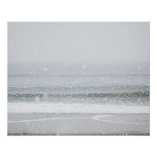 USA, New York State, Rockaway Beach, snow storm 2 Poster