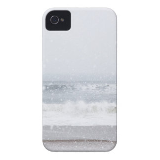 USA, New York State, Rockaway Beach, snow storm iPhone 4 Case-Mate Cases