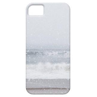USA, New York State, Rockaway Beach, snow storm iPhone 5 Case