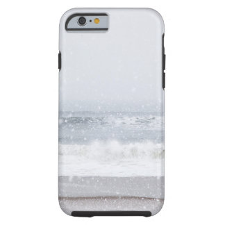 USA, New York State, Rockaway Beach, snow storm Tough iPhone 6 Case