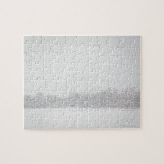 USA, New York State, Rockaway Beach, snowstorm Jigsaw Puzzle