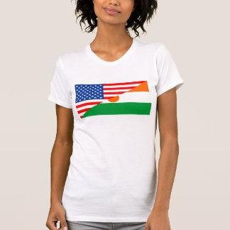 usa niger country half flag america symbol T-Shirt