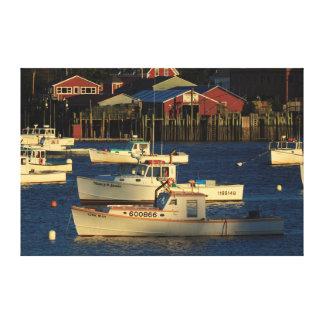 USA North America Maine Bernard Fishing Canvas Print