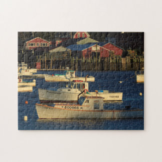 USA, North America, Maine, Bernard, Fishing Jigsaw Puzzle