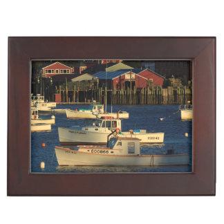 USA, North America, Maine, Bernard, Fishing Keepsake Box