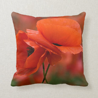 USA, North Carolina. Close-up of poppy Throw Pillow
