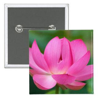 USA; North Carolina; Lotus blossom 15 Cm Square Badge