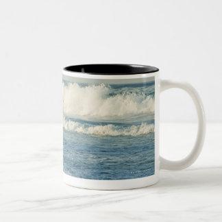 USA, North Carolina, Outer Banks, Kill Devil 3 Two-Tone Coffee Mug