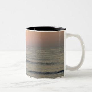 USA, North Carolina, Outer Banks, Kill Devil Two-Tone Coffee Mug