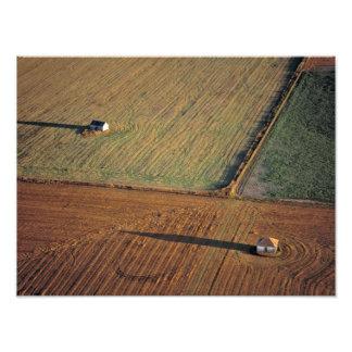 USA, North Dakota, Washburn. Late light throws Photo Print