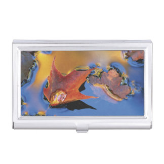 USA, Northeast, Maple Leaf in Reflection Business Card Holder