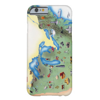 USA, Northern States of America, map with Barely There iPhone 6 Case