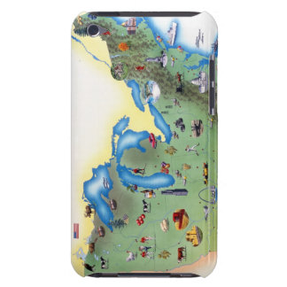 USA, Northern States of America, map with iPod Case-Mate Cases