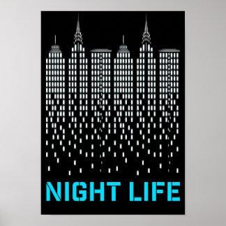 USA NYC Skyscraper Illustration Poster