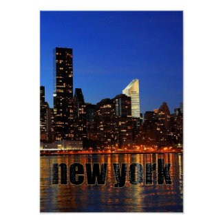 USA NYC Skyscraper Skyline Poster