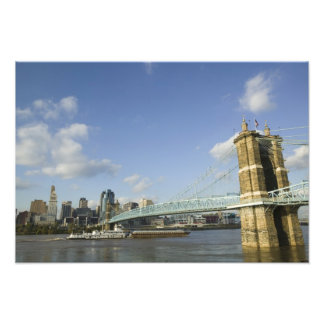 USA, Ohio, Cincinnati: Roebling Suspension 2 Photo