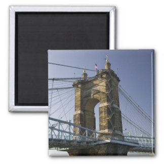 USA, Ohio, Cincinnati: Roebling Suspension 3 Magnet