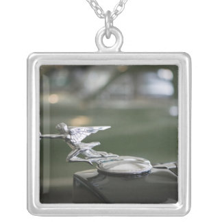 USA, Ohio, Dayton: America's Packard Museum Silver Plated Necklace