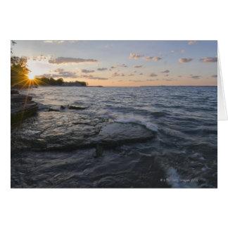 USA, Ohio, Lake Erie Card