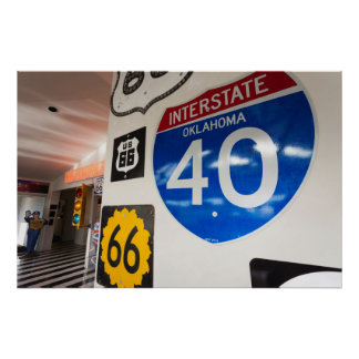 USA, Oklahoma, Clinton, Route 66 Museum Poster
