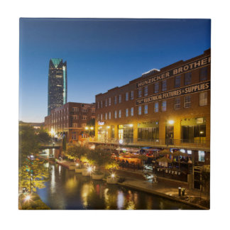 USA, Oklahoma, Oklahoma City, Bricktown Tile