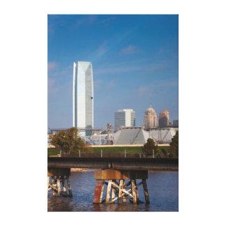 USA, Oklahoma, Oklahoma City, Skyline Canvas Print