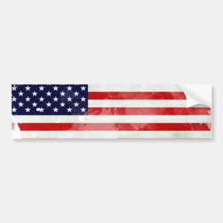 USA OLD FLAG PEGATINA DE PARACHOQUE