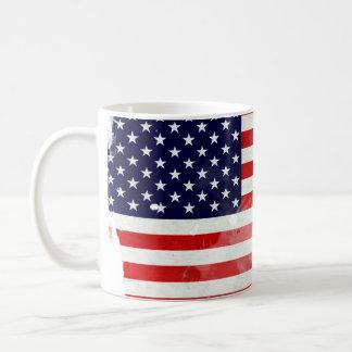 USA OLD FLAG TAZA DE CAFÉ