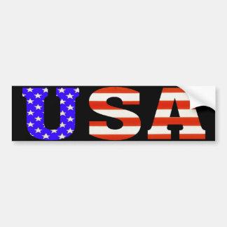 USA on Black Bumper Sticker