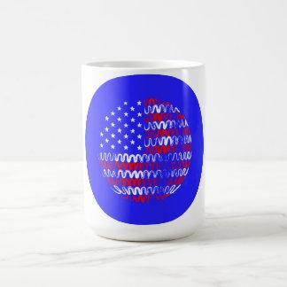 USA on Blue Circle Mug