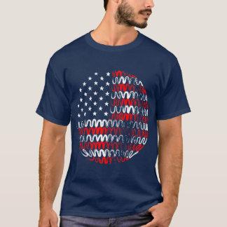 USA on Blue Tee Shirt