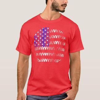 USA on Red Tee Shirt